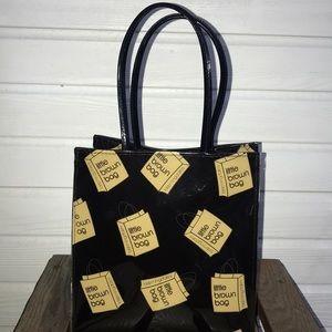 Bloomingdale's Vinyl Little Brown Bag Tote